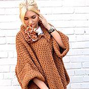 """Одежда ручной работы. Ярмарка Мастеров - ручная работа Жакет оверсайз вязаный,крупная вязка """"Карамель"""". Handmade."""