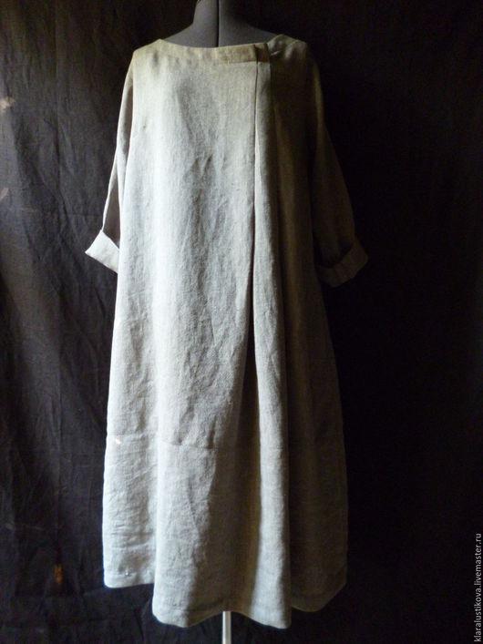 Платья ручной работы. Ярмарка Мастеров - ручная работа. Купить Вещь № 158. Handmade. Серый, широкий вырез