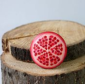 Brooches handmade. Livemaster - original item The brooch is a Stylized pomegranate. Handmade.