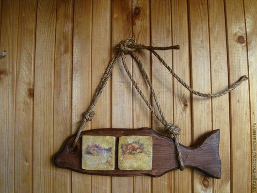 """Животные ручной работы. Ярмарка Мастеров - ручная работа. Купить Панно """"Рыба"""" или воспоминания о лете в деревне. Handmade. Коричневый"""