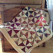 """Для дома и интерьера ручной работы. Ярмарка Мастеров - ручная работа лоскутное одеяло-покрывало """"Солнечная осень"""". Handmade."""