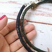 Украшения handmade. Livemaster - original item Beaded harnesses, choker around the neck. Handmade.
