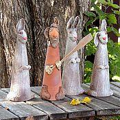 Для дома и интерьера ручной работы. Ярмарка Мастеров - ручная работа Дед Мазай и зайцы. Handmade.