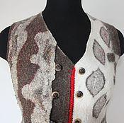 """Одежда ручной работы. Ярмарка Мастеров - ручная работа """"Эволюция"""" валяный жилет. Handmade."""
