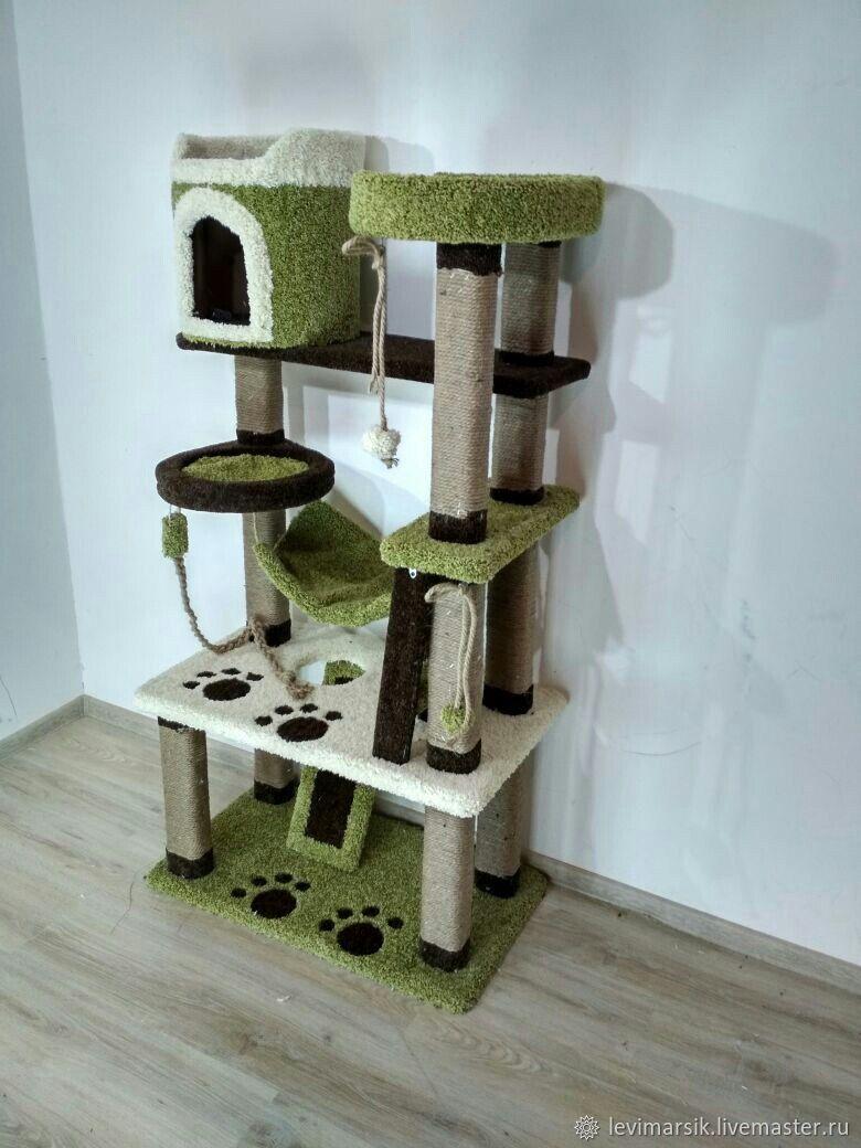 Комплекс для кошек, когтеточка, Аксессуары для кошек, Уфа, Фото №1