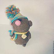 Куклы и игрушки ручной работы. Ярмарка Мастеров - ручная работа Вязаный мишка:) в шапочке:). Handmade.