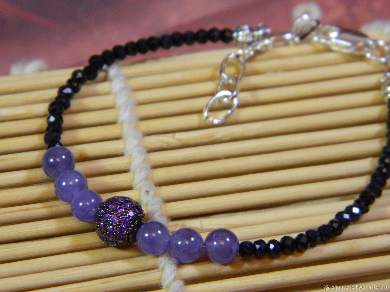 A bracelet made of beads, Tanzanite, Sapphire(Kashmir), Bead bracelet, Saratov,  Фото №1