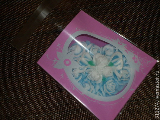Упаковка ручной работы. Ярмарка Мастеров - ручная работа. Купить Пакет с клейкой лентой.. Handmade. Розовый, пакет для подарка, пвх