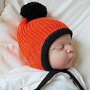 """Работы для детей, ручной работы. Ярмарка Мастеров - ручная работа Шапка """"Оранжевый Смурфик"""")). Handmade."""