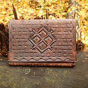 Сумки и аксессуары handmade. Livemaster - original item Leather purse, coin image with the embossed Symbol of prosperity. Handmade.