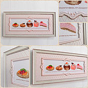 Картины и панно handmade. Livemaster - original item Panels: Patisserie. Handmade.