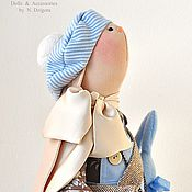 Куклы и игрушки ручной работы. Ярмарка Мастеров - ручная работа Зайка текстильная Charlotte / Шарлотта. Handmade.