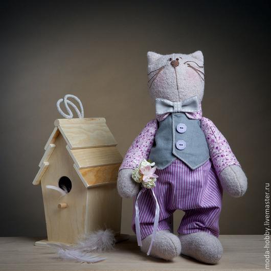 """Куклы и игрушки ручной работы. Ярмарка Мастеров - ручная работа. Купить Набор для шитья """"Кот Василий"""" Модное Хобби. Handmade."""