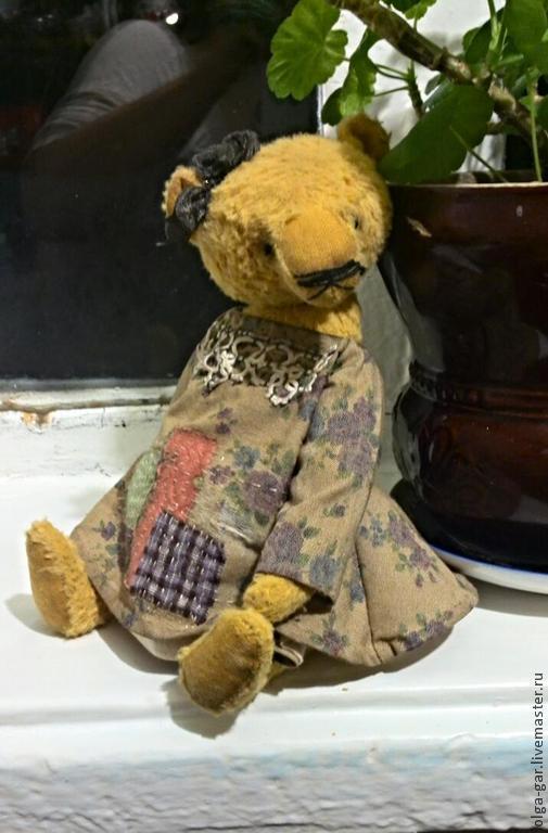 Мишки Тедди ручной работы. Ярмарка Мастеров - ручная работа. Купить Дора, мишка тедди девочка. Handmade. Золотой