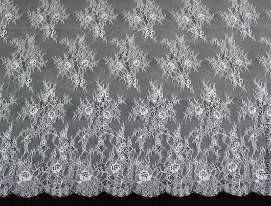 Гипюр - цвет белый № 87331
