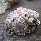 Украшения handmade. Livemaster - original item Brooch Powdery Rose. Handmade.