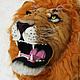 """Животные ручной работы. Ярмарка Мастеров - ручная работа. Купить Арт-объект """"Лев"""". Handmade. Рыжий, сафари, проволока"""