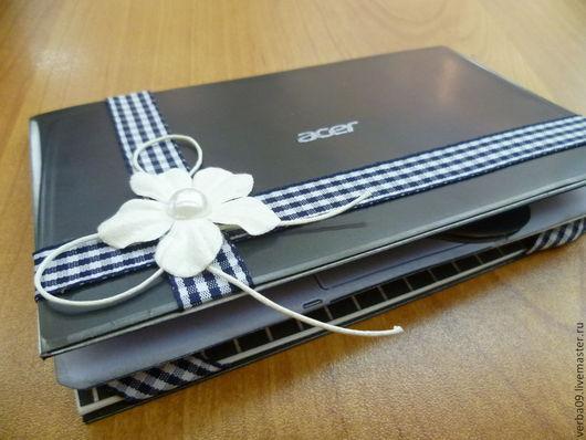 """Открытки для мужчин, ручной работы. Ярмарка Мастеров - ручная работа. Купить Открытка -ноутбук """"С днем рождения!"""". Handmade. Черный"""