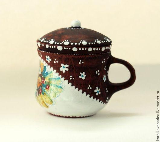 Чайники, кофейники ручной работы. Ярмарка Мастеров - ручная работа. Купить Керамическая кружка заварочный чайник (майолика). Handmade. Керамика