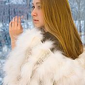 Свадебный салон ручной работы. Ярмарка Мастеров - ручная работа Палантин из меха белоснежной лисы ШТ42м. Handmade.