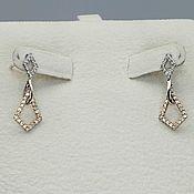 Украшения handmade. Livemaster - original item Gold stud earrings with diamonds 0,310 ct. Handmade.