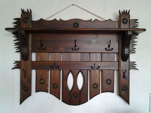 Мебель ручной работы. Ярмарка Мастеров - ручная работа. Купить Вешалка под старину. Handmade. Вешалка деревянная, деревянная мебель