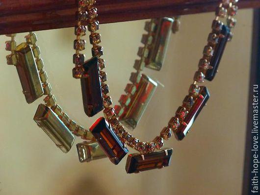 """Винтажные украшения. Ярмарка Мастеров - ручная работа. Купить Блистательное Ожерелье """"Горчичные Топазы"""" 1950. Handmade. Антикварный, винтаж, колье"""