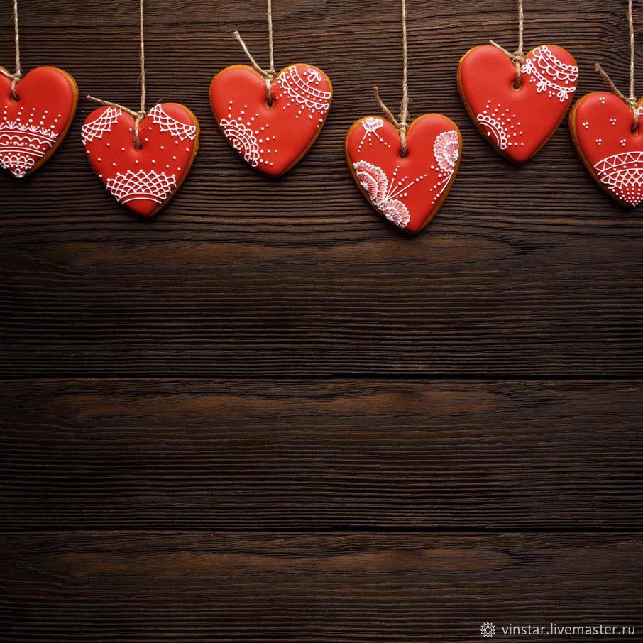 Фотофон виниловый Пряничные сердца, Фото, Курск,  Фото №1