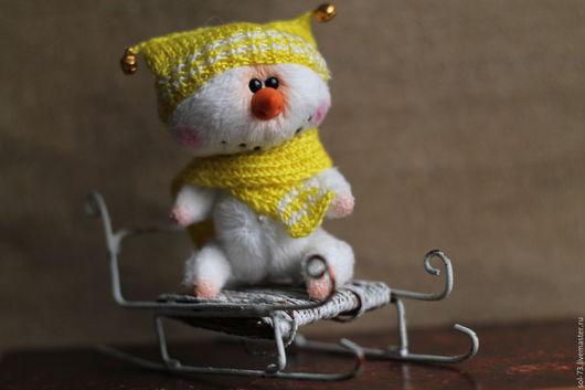 Мишки Тедди ручной работы. Ярмарка Мастеров - ручная работа. Купить Снеговики!. Handmade. Мишки тедди, плюшевая игрушка, миник