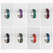 Украшения handmade. Livemaster - original item Silver rings with stabilized wood custom.. Handmade.