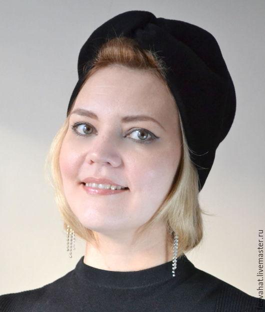 Шляпы ручной работы. Ярмарка Мастеров - ручная работа. Купить чалма тюрбан шляпка шапка-чалма велюр черный цвет. Handmade.