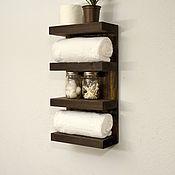 Для дома и интерьера ручной работы. Ярмарка Мастеров - ручная работа Полка для ванной комнаты, темная. Handmade.