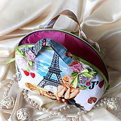 Сумки и аксессуары handmade. Livemaster - original item Cosmetic bag large