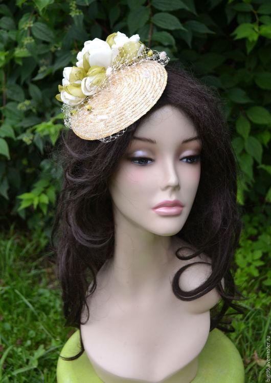 """Шляпы ручной работы. Ярмарка Мастеров - ручная работа. Купить """"Свежесть лета"""". Handmade. Бежевый, свадьба, вуаль"""