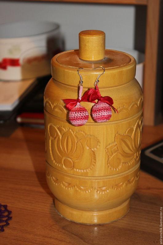 """Серьги ручной работы. Ярмарка Мастеров - ручная работа. Купить Серьги """"Розовые шарики"""". Handmade. Розовый, круглые серьги"""