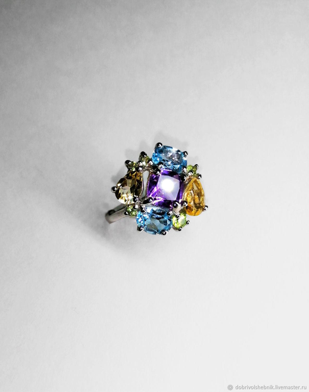 The ring 'the Shining' with natural stones, Rings, Novaya Usman,  Фото №1