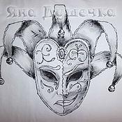 Одежда handmade. Livemaster - original item T-shirt  hand painted  the masks of tragedy and Comedy. Handmade.