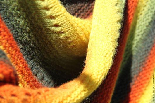 Шали, палантины ручной работы. Ярмарка Мастеров - ручная работа. Купить Шаль Сентябринка (датская шаль традиционная - большая). Handmade.