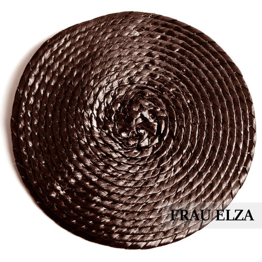 Другие виды рукоделия ручной работы. Ярмарка Мастеров - ручная работа. Купить Плетеная основа для вуалетки 14 см Шоколад. Handmade.