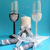 Свадебный салон handmade. Livemaster - original item Bridal set with candles. Handmade.