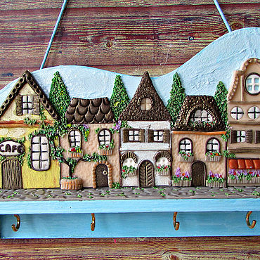 For home and interior handmade. Livemaster - original item Housekeeper Summer in Provence. The housekeeper wall.Decor with polymer clay.. Handmade.