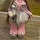 Коллекционные куклы ручной работы. Текстильная куколка ручной работы Викуся. Юлия Соколова. Ярмарка Мастеров. Авторская кукла, флис