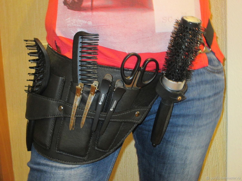 Delantal de peluquería de la piel natural – compra u ordena en la.