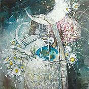 Картины и панно ручной работы. Ярмарка Мастеров - ручная работа Сумка, полная ромашек и моей к тебе любви. Handmade.