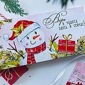 Сувениры и подарки handmade. Livemaster - original item Chocolate maker-a letter for the New Year. Handmade.