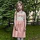 Одежда для девочек, ручной работы. Платье-сарафан с бантиком - розовое. Vera Olshvang. Интернет-магазин Ярмарка Мастеров. Орнамент, бант