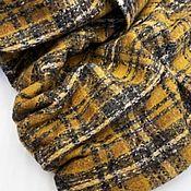 Материалы для творчества handmade. Livemaster - original item Fabric: Tweed suit yellow cage. Handmade.