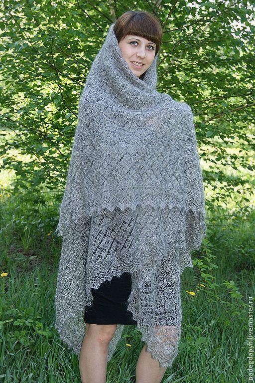 Персональные подарки ручной работы. Ярмарка Мастеров - ручная работа. Купить 89 - платок пуховый паутинка Теплый подарок ,шаль,персональный подарок. Handmade.