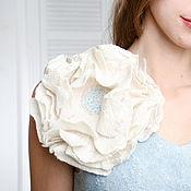 Украшения handmade. Livemaster - original item Brooch-flower. Extrа size. Felt brooch.. Handmade.