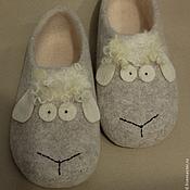 """Обувь ручной работы. Ярмарка Мастеров - ручная работа Тапки """"Раз овечка, два овечка..."""". Handmade."""